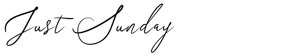 Just Sunday font