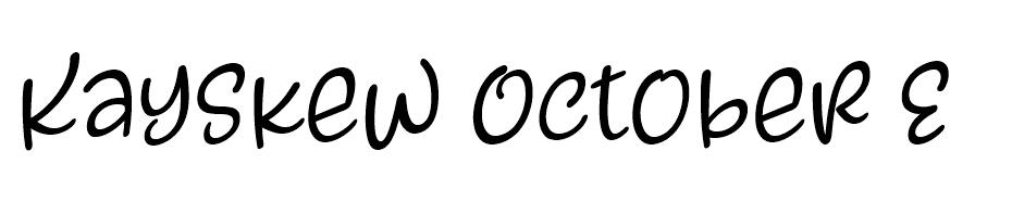 Kayskew October Eleven font