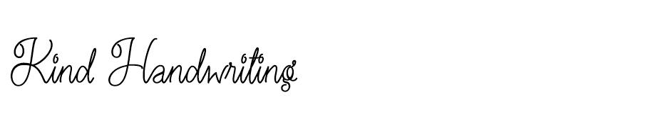 Kind Handwriting font
