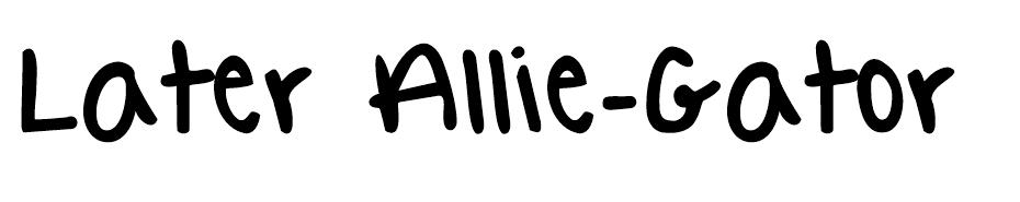Later Allie-Gator Font font