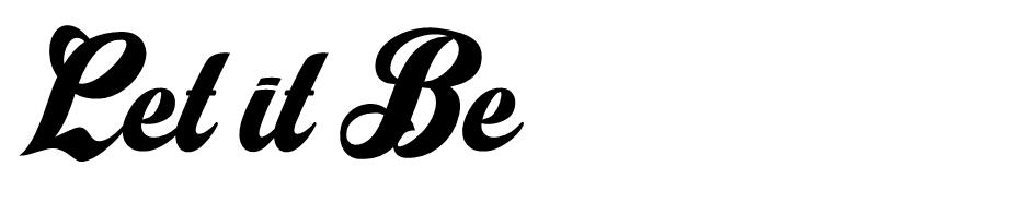Let it Be font