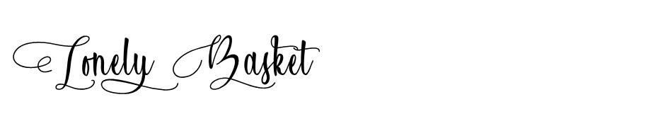 Lonely Basket  font