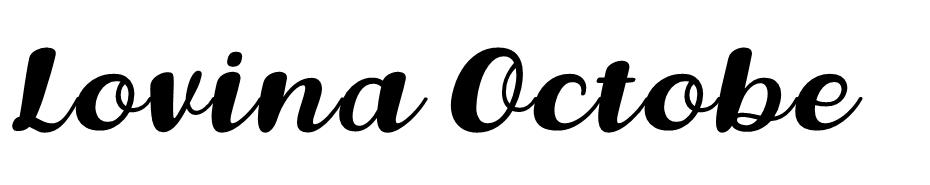 Lovina October Five font