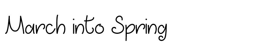 March Into Spring font