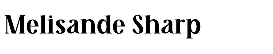 Melisande%20Sharp - En Çok Kullanılan Yazı Fontları - Kalın Yazı Tipleri