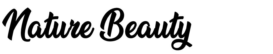 Nature Beauty font