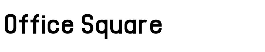 Office Square  font