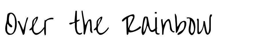 Over the Rainbow Font font