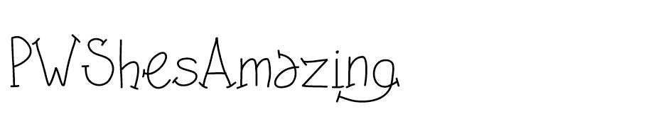 PW Shes Amazing Font font