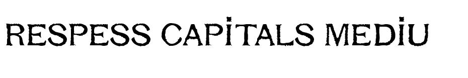 Respess Capitals Medium font
