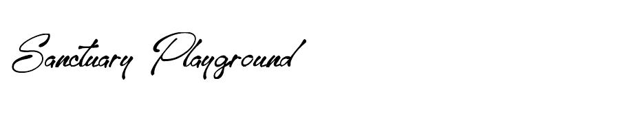 Sanctuary Playground font
