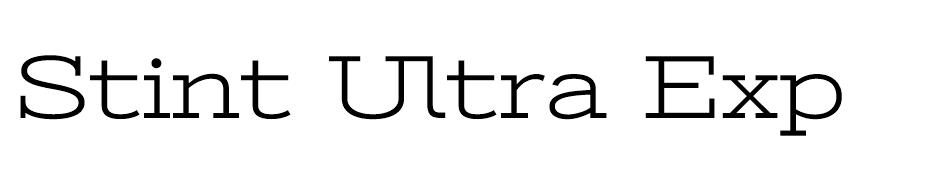 Stint Ultra Expanded Font font
