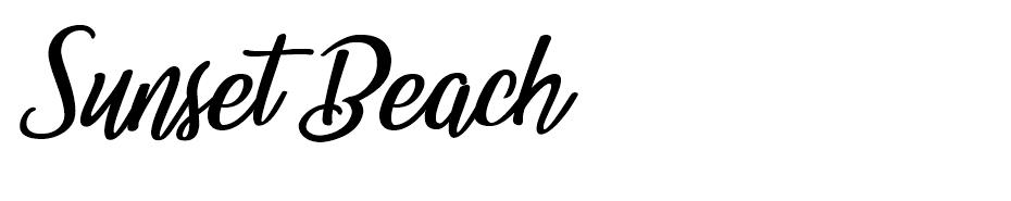 Sunset Beach font