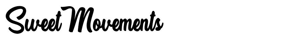 Sweet Movements font