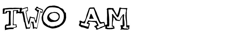 Two AM font