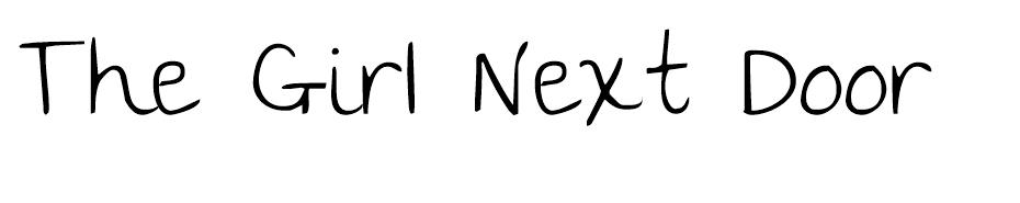 The Girl Next Door font