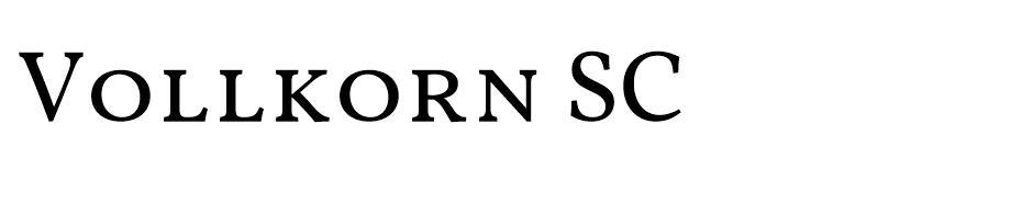 VollkornSC Regular - En Çok Kullanılan Yazı Fontları - Kalın Yazı Tipleri