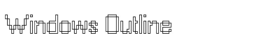 Windows Outline font