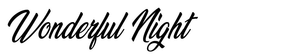 Wonderful Night font