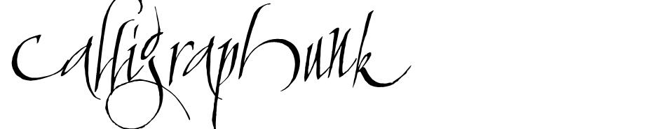 Calligraphunk  font
