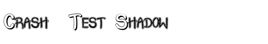 Crash  Test Shadow font