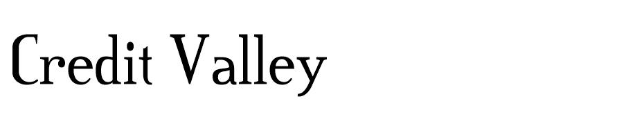 Credit Valley Font Ailesi font