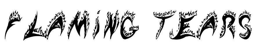 Flaming Tears font
