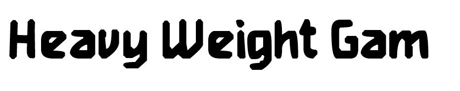 Heavy Weight Gamer font