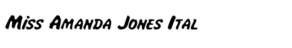 Miss Amanda Jones Ital font