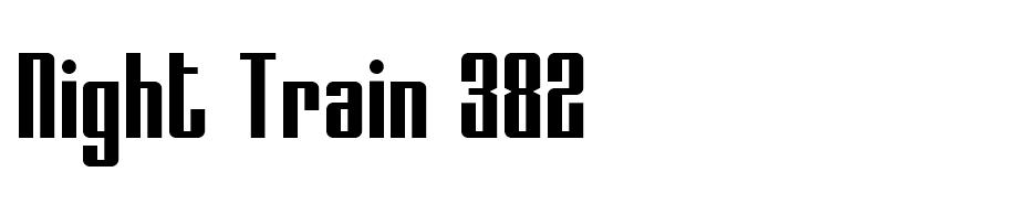 Night Train 382 font