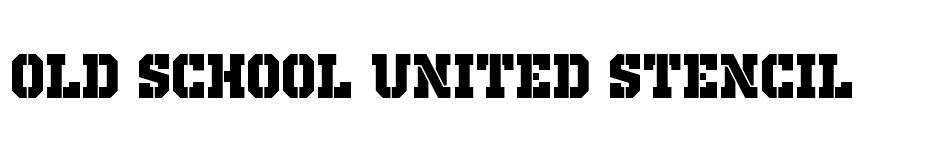 Old School United Stencil font