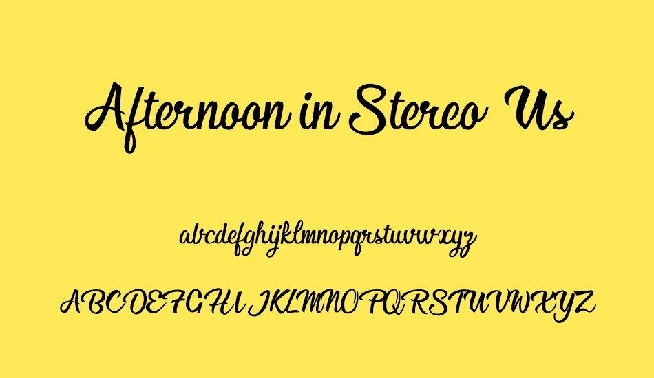afternoon-in-stereo-personal-us font