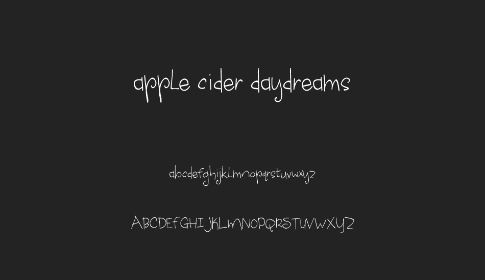 apple-cider-daydreams font