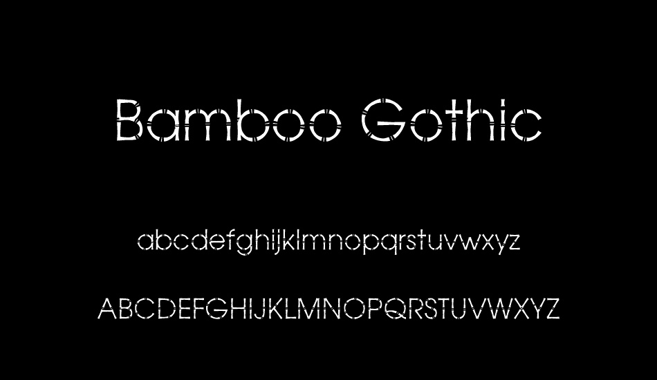bamboo-gothic font