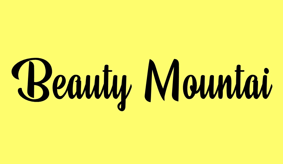 beauty-mountains-personal-use font big