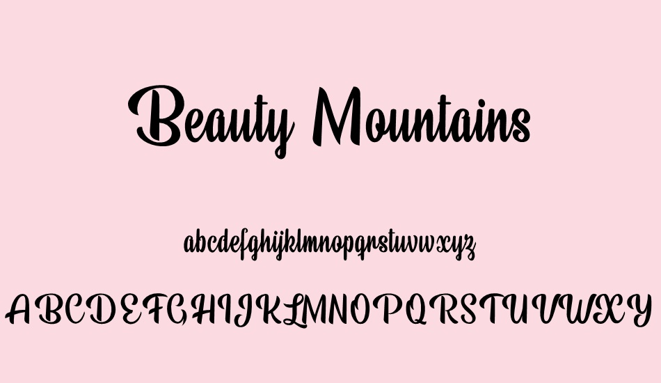 beauty-mountains-personal-use font