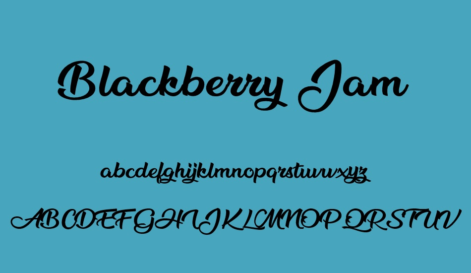 blackberry-jam-personal-use font