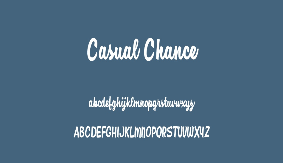 casual-chance-personal-use font