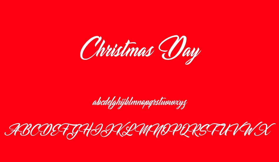 Christmas Day font - Christmas Day font download