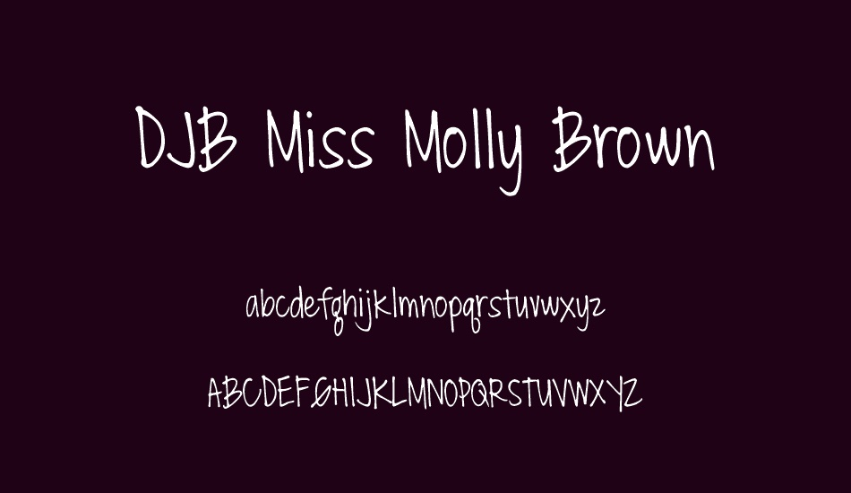 djb-miss-molly-brown font