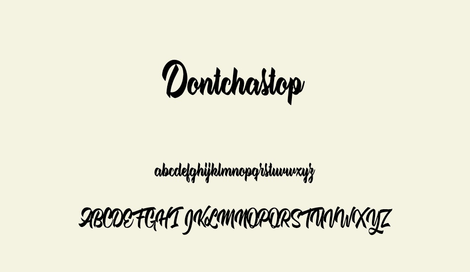 dontchastop-personal-use font