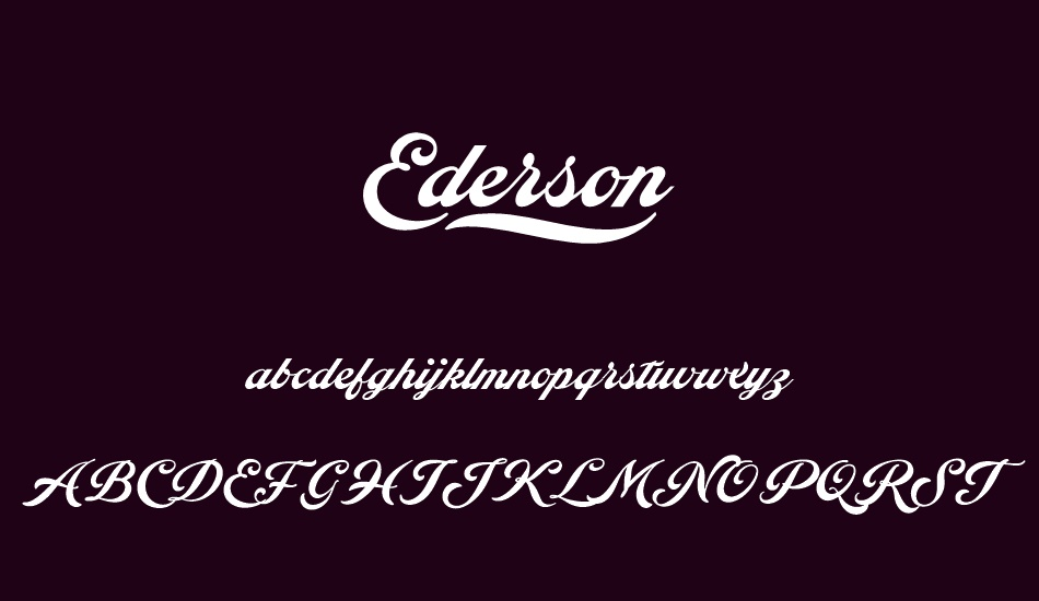 ederson-personal-use-only font