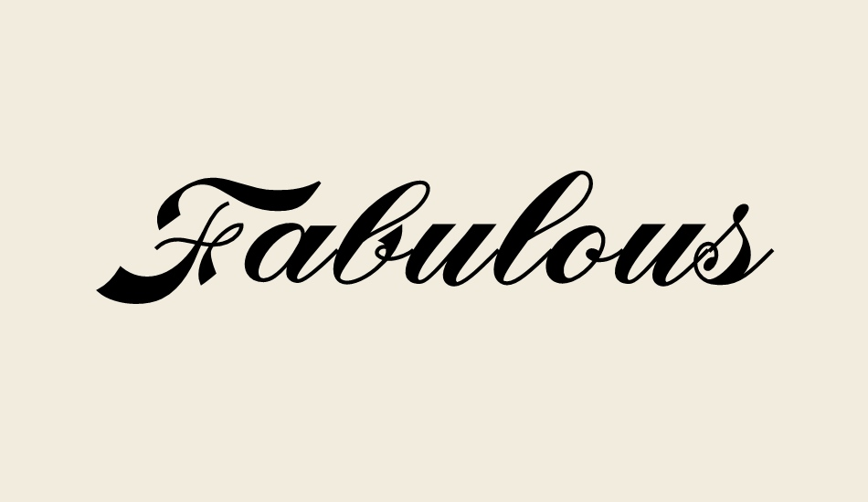 fabulous-personal-use font big