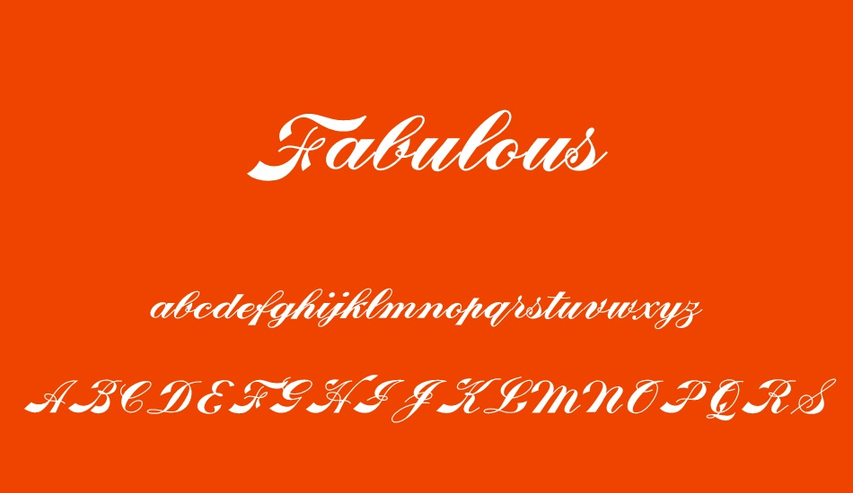 fabulous-personal-use font