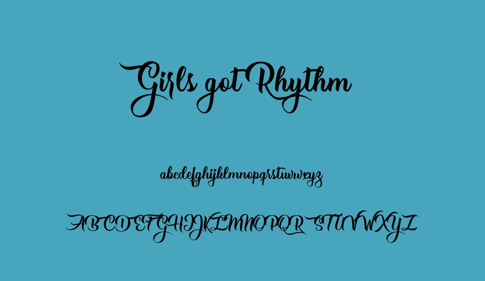 girls-got-rhythm-personal-use font