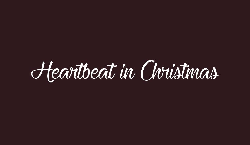 heartbeat-in-christmas font big