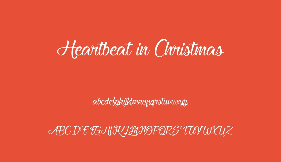 heartbeat-in-christmas font