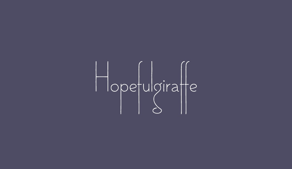 hopefulgiraffe-demo font big