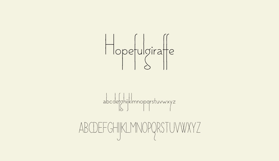 hopefulgiraffe-demo font