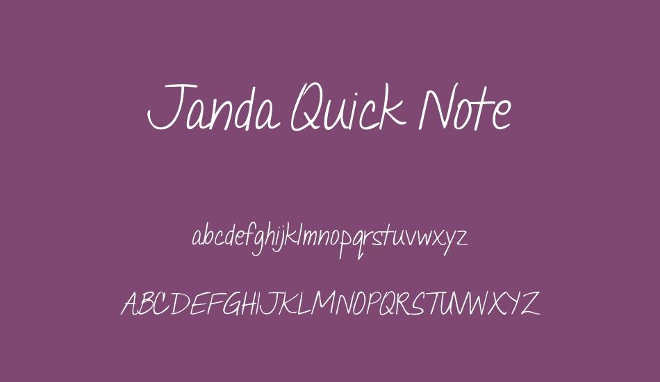 Janda Quick Note Font Font Janda Quick Note Font Font Download